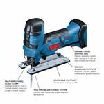 Bosch GST18V-47N 18V Barrel-Grip Jig Saw (Bare Tool)