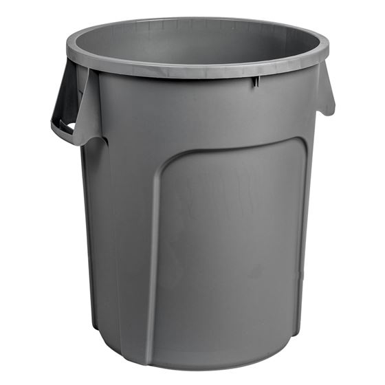 32 Gallon HD Garbage Container-Grey