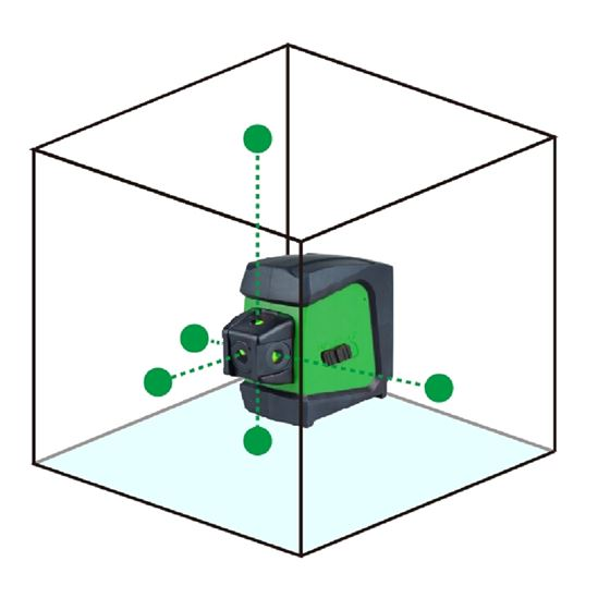 WP5DG Green 5 Dots Laser Level  with a Multi-funct
