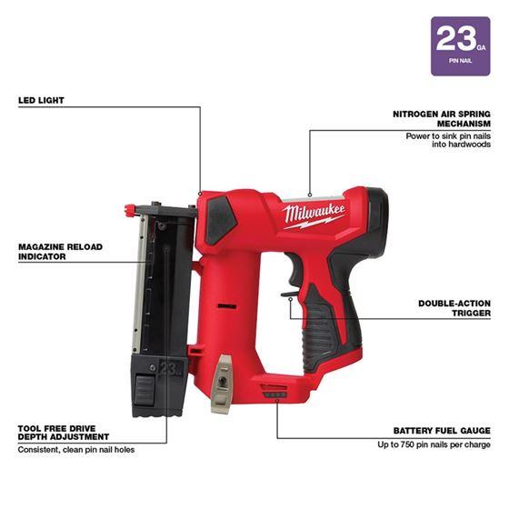2540-20 M12 23 Gauge Pin Nailer-3