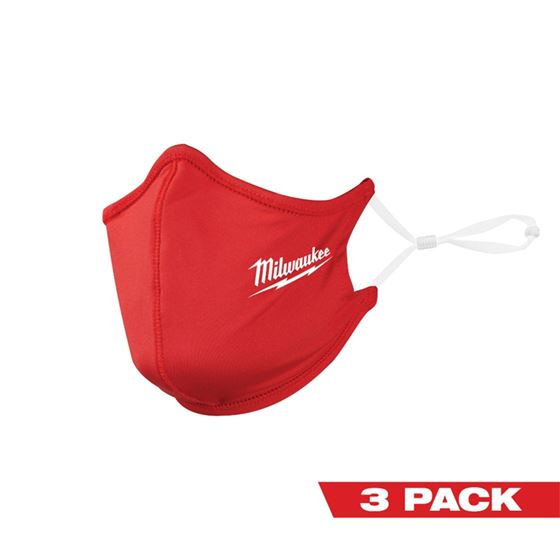 Milwaukee 48-73-4228 3PK RED 2 LAYER FACE MASK