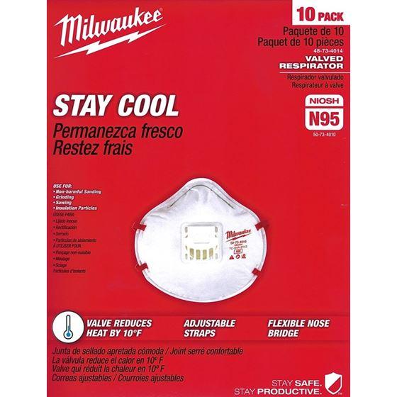 48-73-4014 10PK Valved N95 Respirator