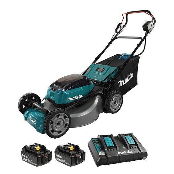 Makita DLM532PT2 21in -18Vx2 LXT Cordless Lawn Mower