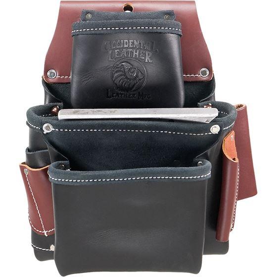 B5060 - 3 Pouch Pro Fastener Bag - Black
