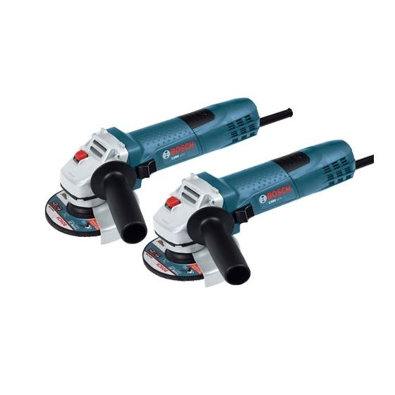 Bosch 1380slim-2P 2 Pack 4-1/2 In. 7.5 A Slim Grip Angle Grinder