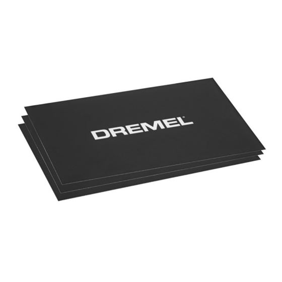 Dremel BT4001 3D Printing Black Build Sheets Pack
