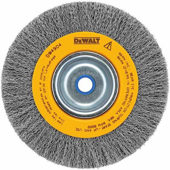 """Dewalt  6"""" crimped bench wire wheel 5/8"""""""