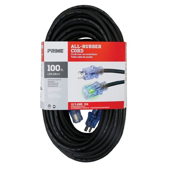 100ft 12/3 SJOOW All-Rubber™ Outdoor Extension Cor