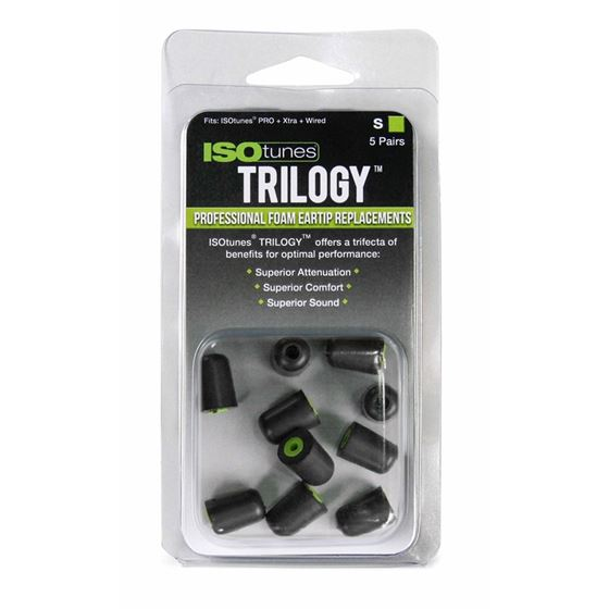 TRILOGY Professional Foam Replacement Eartips - Sm