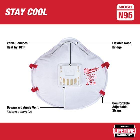 48-73-4014 10PK Valved N95 Respirator-3